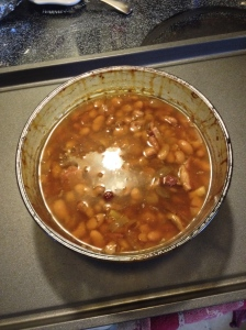 Delicious, soft baked beans.