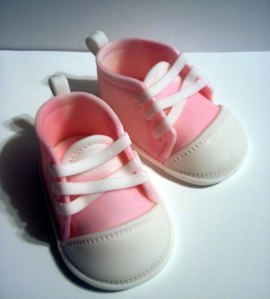 Katie's first sneakers looked just like these.