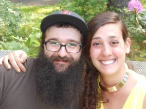 The very happy couple.