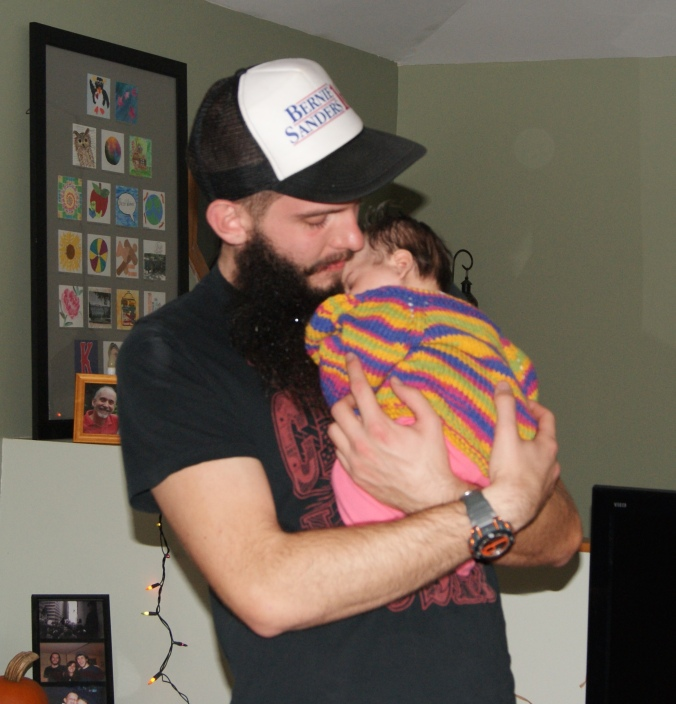 Ellie and her Uncle Matt.